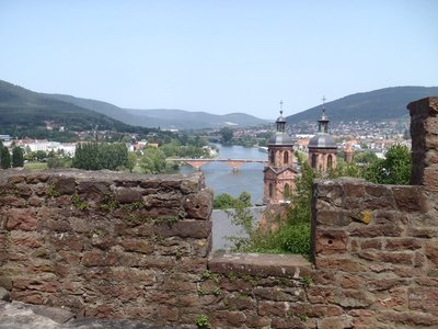 Looking out from the castle across the Rhine and Miltenberg
