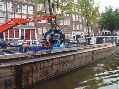 Dredging for bikes in the canals