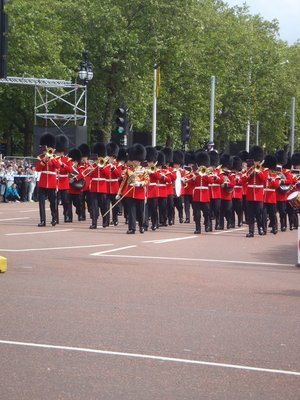 March on the guard and band. From the right; quick march......