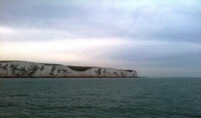 White Cliffs of Dover in the background