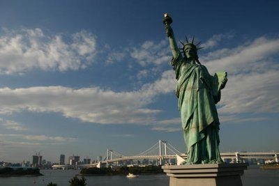 Small Statue of Liberty & Rainbow Bridge