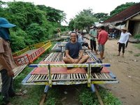 On the bamboo train, Cambodia