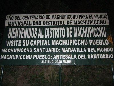Entering the Machu Picchu Park