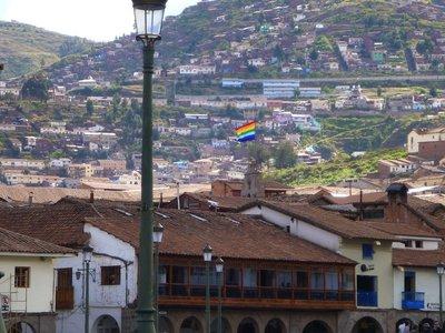 Whipala over Cusco
