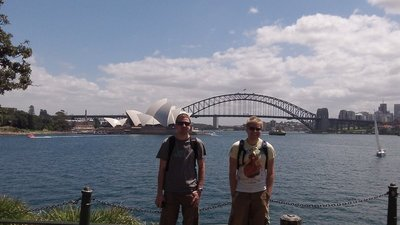 James and Nathan with Sydney Harbour Bridge/Opera House in the Background