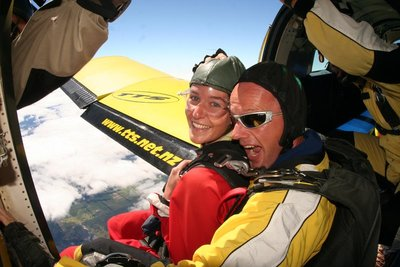 Smile at The Camera, Dont Think About Jumping out the Plane