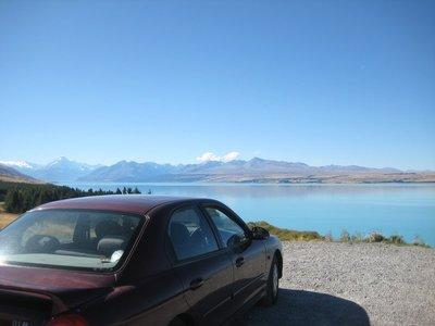 Ron checking out the view at Lake Pukaki