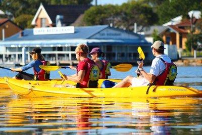 Kayaking in Tea Gardens