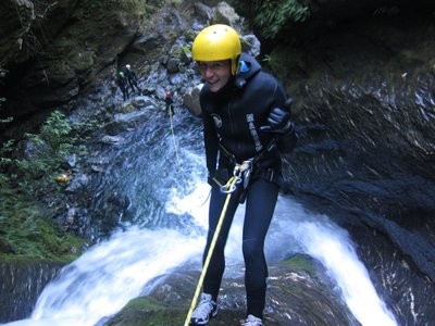 One of many waterfall abseils