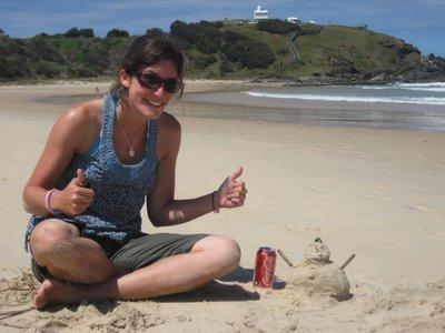 Making Sandmen at Lighthouse Beach