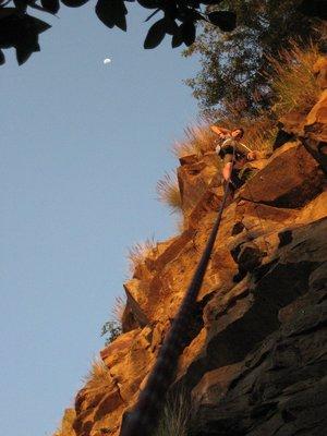 Climbing at Kangaroo Point