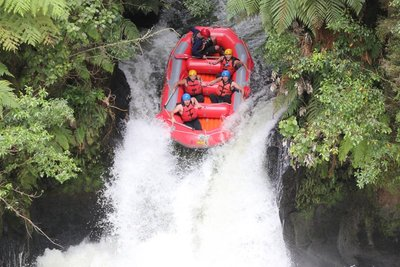 Rafting Down a 7ft Waterfall