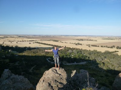 View from the top of the Arapiles, The Atridae area, before we realised we couldn't find the way down...