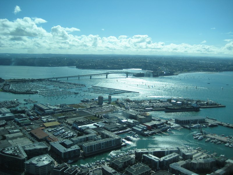 View Of Auckland Harbour Bridge From The Sky Tower