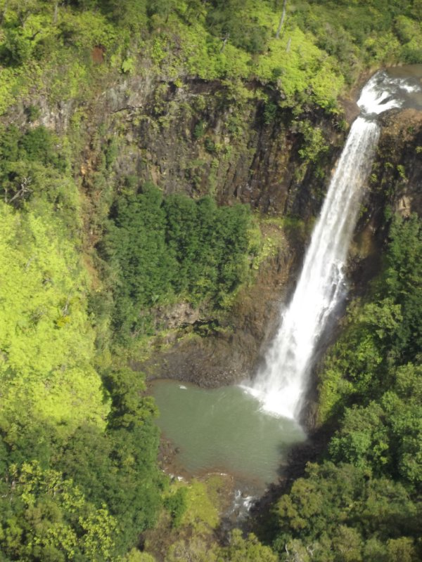 one of many waterfalls from the air