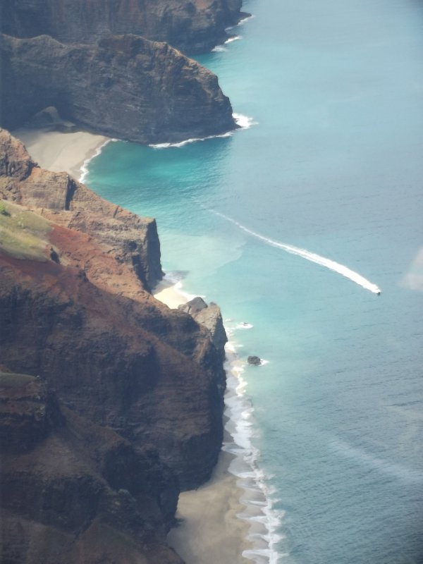 Napali Coast from the air