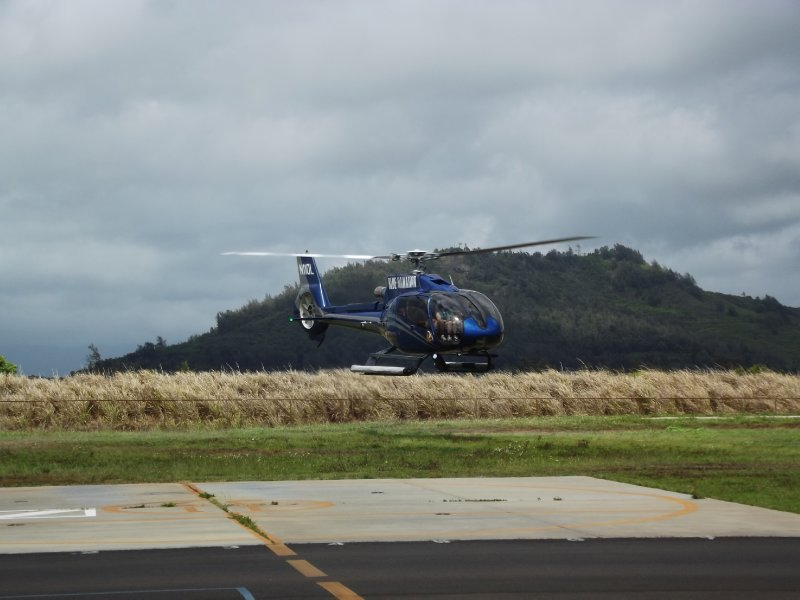 Our helicopter - Blue Hawaii Helicopters