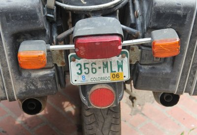 License Plate, CO