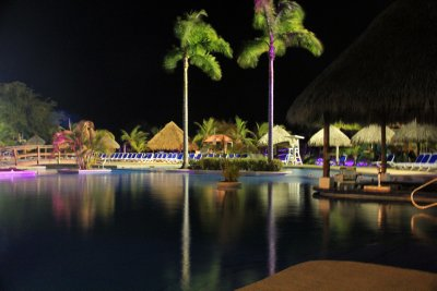 Playa Blanca pool at night