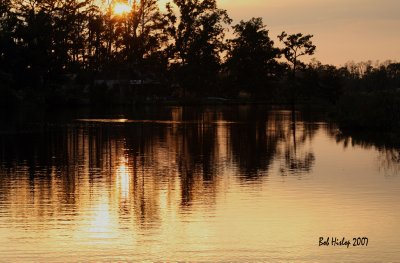 Sunset on Kole's Bayou, LA