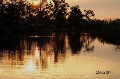 Sunset on Kole's Bayou, LA