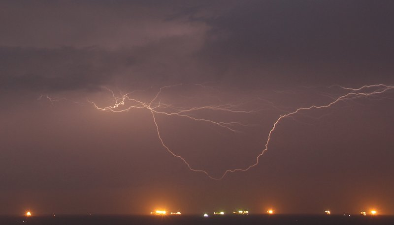 Lightning over Panama Bay