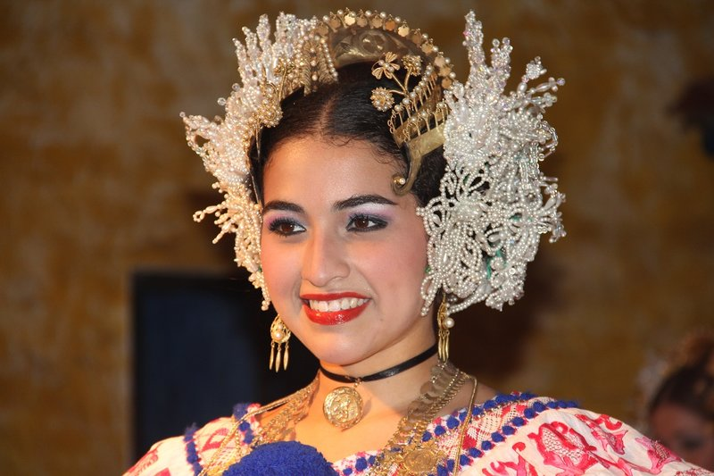 Traditional Panamanian Dancer