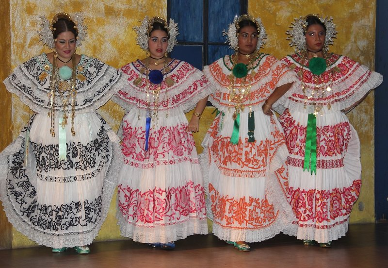 Traditional Panamanian party dresses