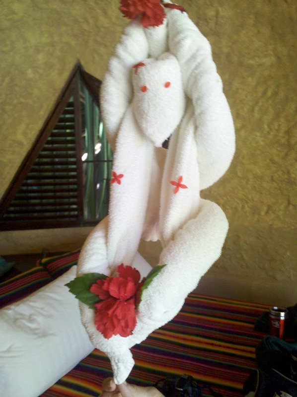 Room towel monkey