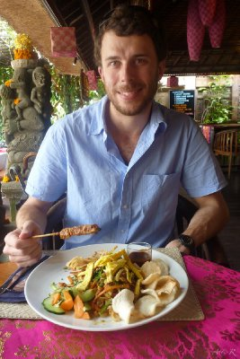 Big breakfast of Mi Goreng in Ubud