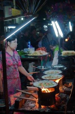 Fiery fried Mandalay street food