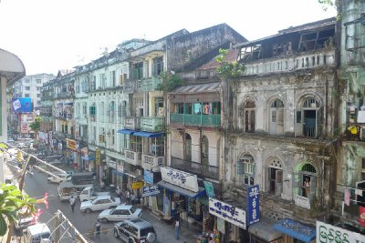 Run down Yangon, a bit too shabby to be chic