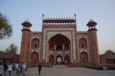 The beautiful buildings surrounding the Taj Mahal