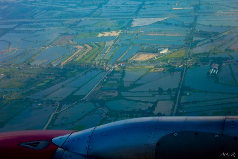 Bangkok from our plane - completely flooded!