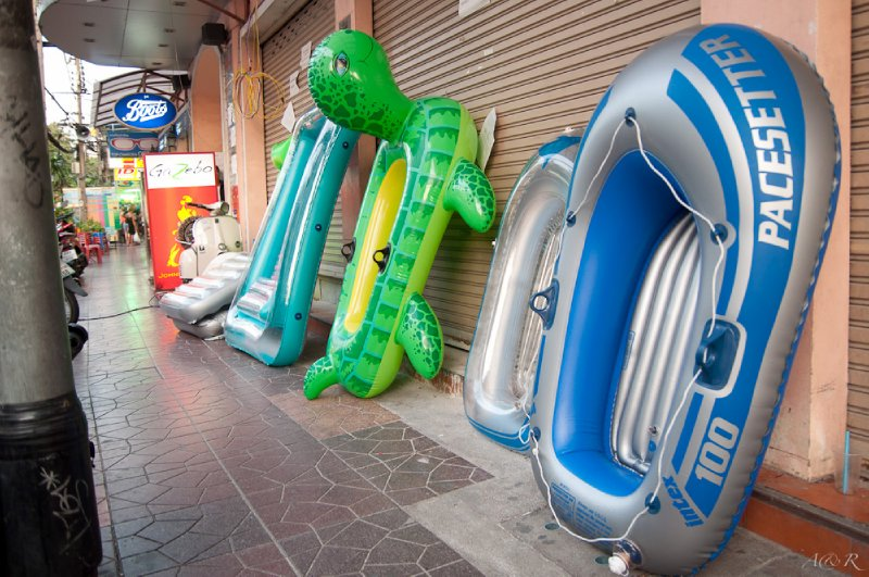 The only sensible answer . . . inflatable toys for everyone!