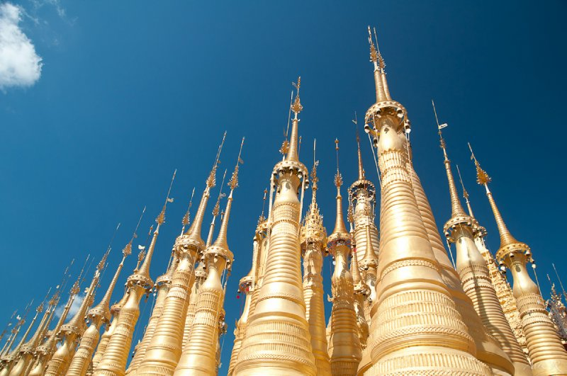 More stupas than you can poke a stick at - over 1,000 on site at Indein