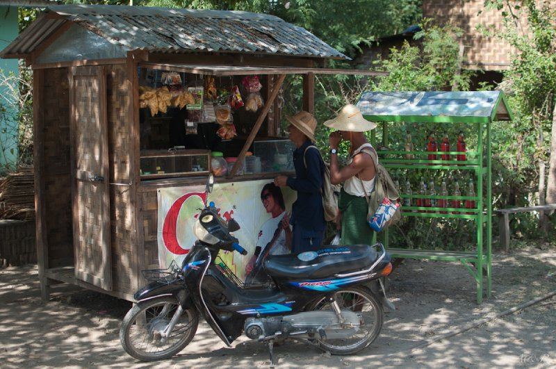 Your typical Burmese 'petrol station'