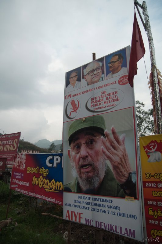 Communism is alive and well in Kerala, where the ruling elected CPI party enforces laws such as minimum hygiene standards, fines for littering and use of motorcycle helmets. This state also boasts the highest literacy rates in the country