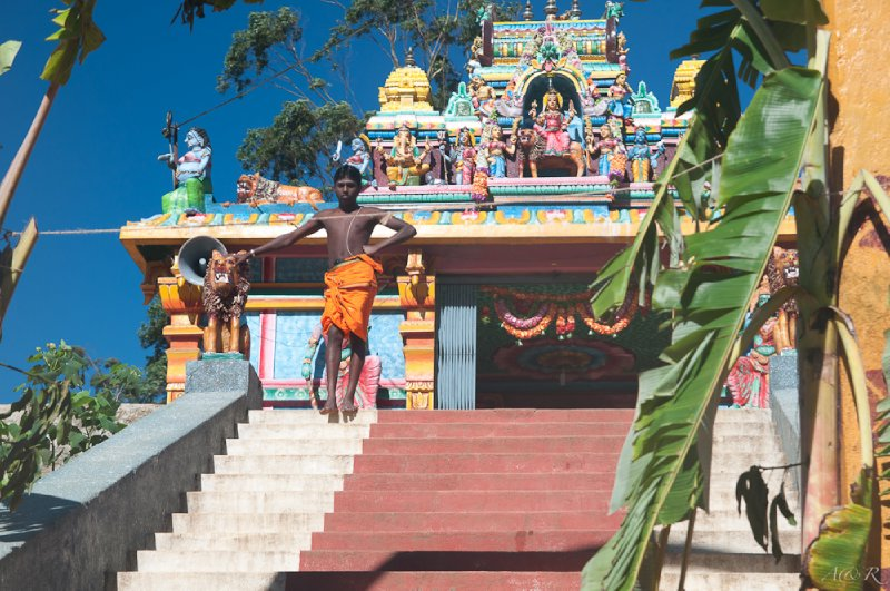 One of the few Hindu temples in the predominantly Buddhist country