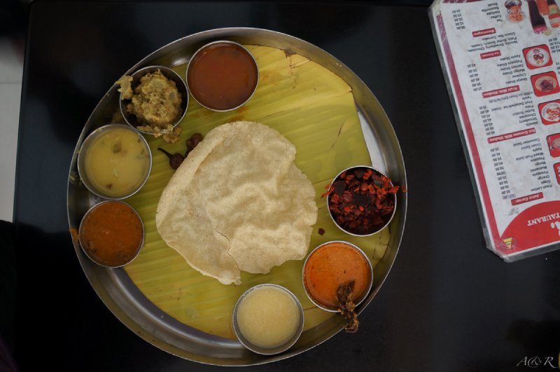 The Indian thali