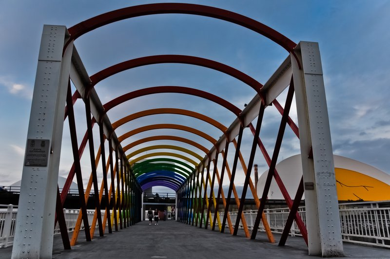 Niemeyer Center from the St.Sebastian Bridge (Avilés)