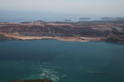 Open pit mine on Koolan island in Buccaneer archipelago
