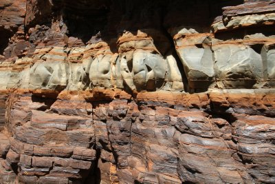 Rock formations in Dales Gorge, Karijini NP