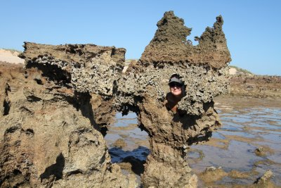 Weird rock formations on Middle Lagoon