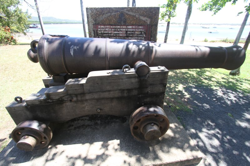 Canon supplied to Cooktown in 1885 to defend them against a possible Russian attack