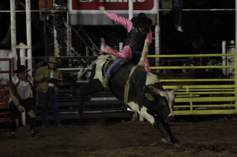 Bull riding at Kununurra Rodeo