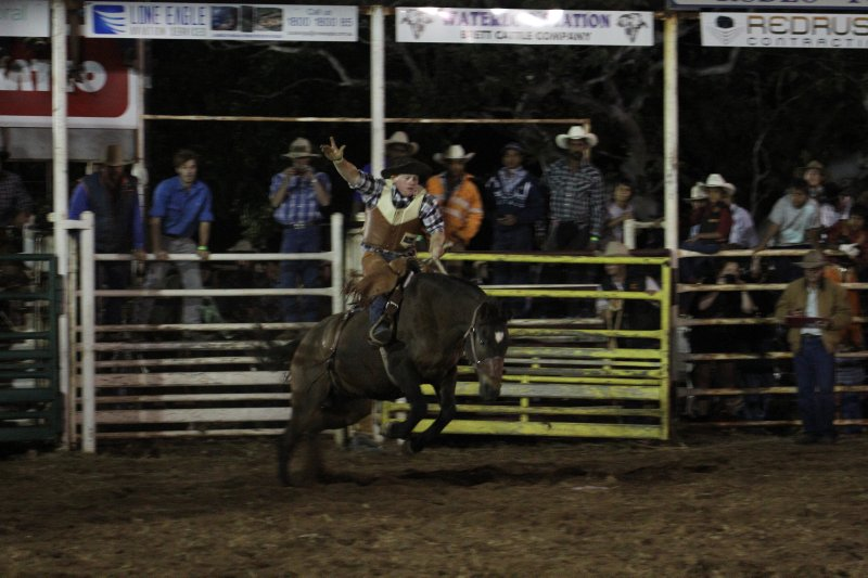 Broncho riding at Kununurra Rodeo