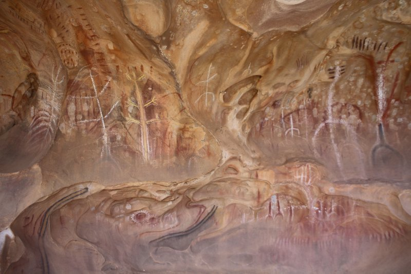 Arkaroo Rock Aboriginal paintings