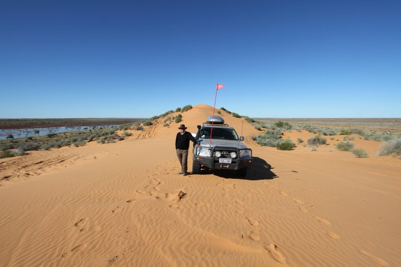 On top of the Big Red dune in the Simpson Desert