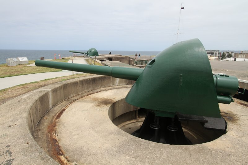 Fort Scratchley guns